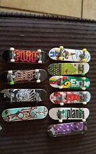 Tech Deck skateboards, lot of ten boards and parts