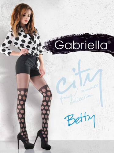 Fancy Tights 20 Denier Black Patterned Pantyhose Betty Gabriella S-L