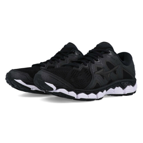 Mizuno Womens Wave Sky 2 Running Shoes Trainers Sneakers Black Sports Breathable