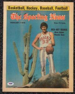 Alvan Adams Autographed Signed Sporting News Cover Phoenix Suns PSA/DNA T19866