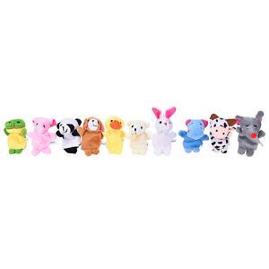 10Pcs-Famille-Doigt-Animal-Marionnettes-Enfant-Jouet-Educatif-Main-Dessin-Ani-JE