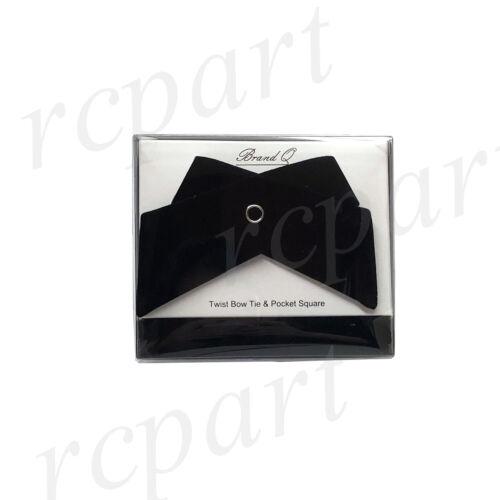 New formal Bow tie/_hankie velvet twisted Black button closure fashion wedding