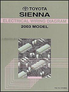 BRAND NEW 2003 Toyota Sienna Van Wiring Diagram Manual Electrical ...