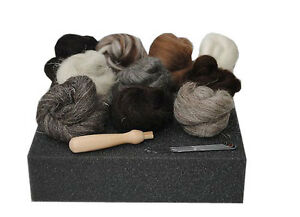 Heidifeathers-High-Quality-Needle-Felting-Starter-Kit-039-Natural-Wool-039-Handle