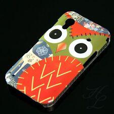 Samsung Galaxy ACE S5830 Hard Handy Case Schutz Hülle Etui Eule Rot Owl Schale