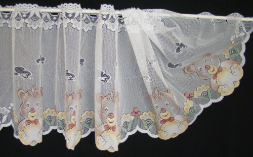 Scheibengardine color Teddy Bär Kinderzimmer Kurzgardine 160 x 53