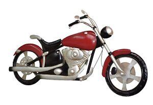 wanddeko motorrad mit licht metall deko wandbild chopper metallbild bike bild ebay. Black Bedroom Furniture Sets. Home Design Ideas