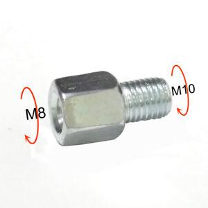 Spiegeladapter Spiegel Adapter M10 Rechtsgewinde auf M8 Linksgewinde