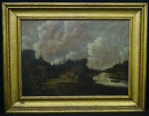 RARE SIGNED JAN MEERHOUT (Dutch 1630–1677) OIL ON PANEL PAINTING