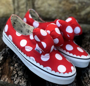caf220132d New! Vans X Disney Authentic Gore Minnies Bow Womens Size 7.5