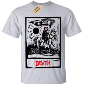 380716ee29a Death Tarot Card T-Shirt Mens Goth Rock Grim Reaper gothic