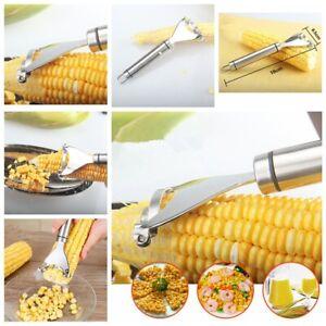 1x-Kitchen-Corn-Cob-Stripper-Cutter-Peeler-Thresher-Remover-Stainless-Steel-Tool