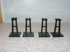 Lego Monorail Train Black Support Stanchion Lot of 2 1 Of Each Size