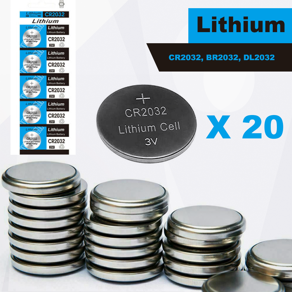 20 x CR2032 BR2032 DL2032 Branded 3V LITHIUM Coin Cell Button Batteries UK Sell
