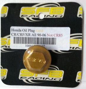 400013050102 SFB Racing GOLD Oil Plug KAWASAKI KX 1990-2007,SUZUKI RM 60//65//100