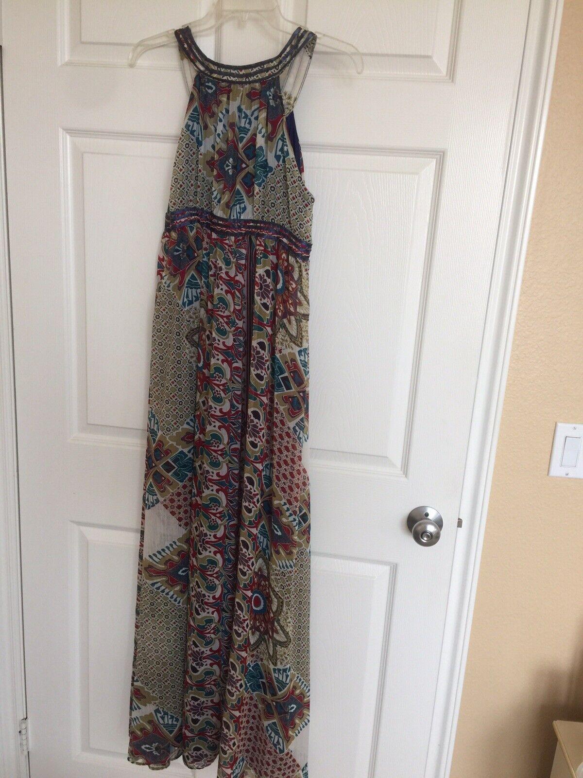 Women boho sleveless full lenght dress - image 2