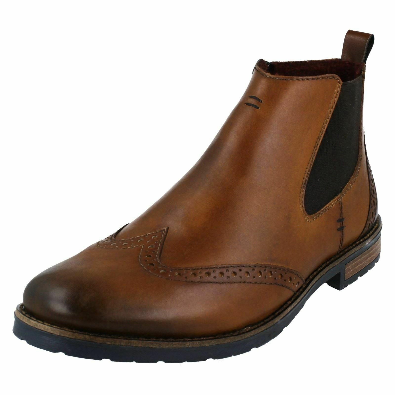 Rieker mens Boots With Brogue Detail - 34660
