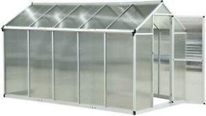 10'x6.25x6.4 Walk-In Cold Frame Greenhouse Plant Growing Sun Shade Aluminum Brand New in box call me 6477657501 Canada Preview