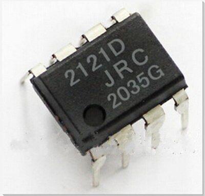 2PCS JRC NJM2121D DIP-8 IC OPAMP double avec SW 2IN//1OUT