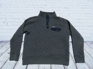 Mens Patagonia Gray Organic Cotton Quilt Snap T Pullover