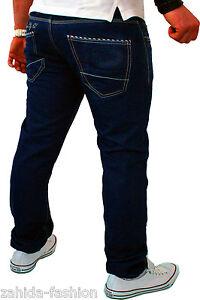 Stile L32 Cargo Uomo Jeans Lavato Pantaloni L34 Blu Shelly Destroyed Baxx x1YwqSa
