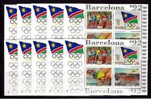 10 X Namibie 1992 Bloc 16 ** Jeux Olympiques Barcelone-afficher Le Titre D'origine Doux Et AntidéRapant