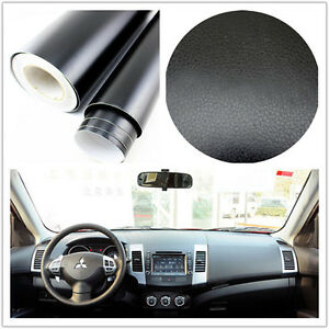 Coches-SUV-Interior-Exterior-Trim-3d-Negro-De-Cuero-Textura-Hoja-pelicula-pegatina-de-vinilo