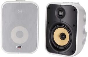 Black//White 2018 BrandNewSealed Pair of PSB CS500 Weather-Resistant Speakers