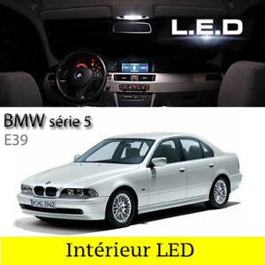 Kit-eclairage-18-ampoules-a-LED-interieur-Habitacle-blanc-pour-BMW-serie-5-E39