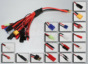Bundle: 1 Parallel Charging Board for Lipos with XT60 Connectors + Paraboard Balance Cord Adapter for 4S Chargers Common Sense RC 1