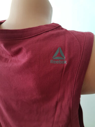 M XL NEU Reebok Damen Tanktop TIE Tank Top Shirt Rot Gr