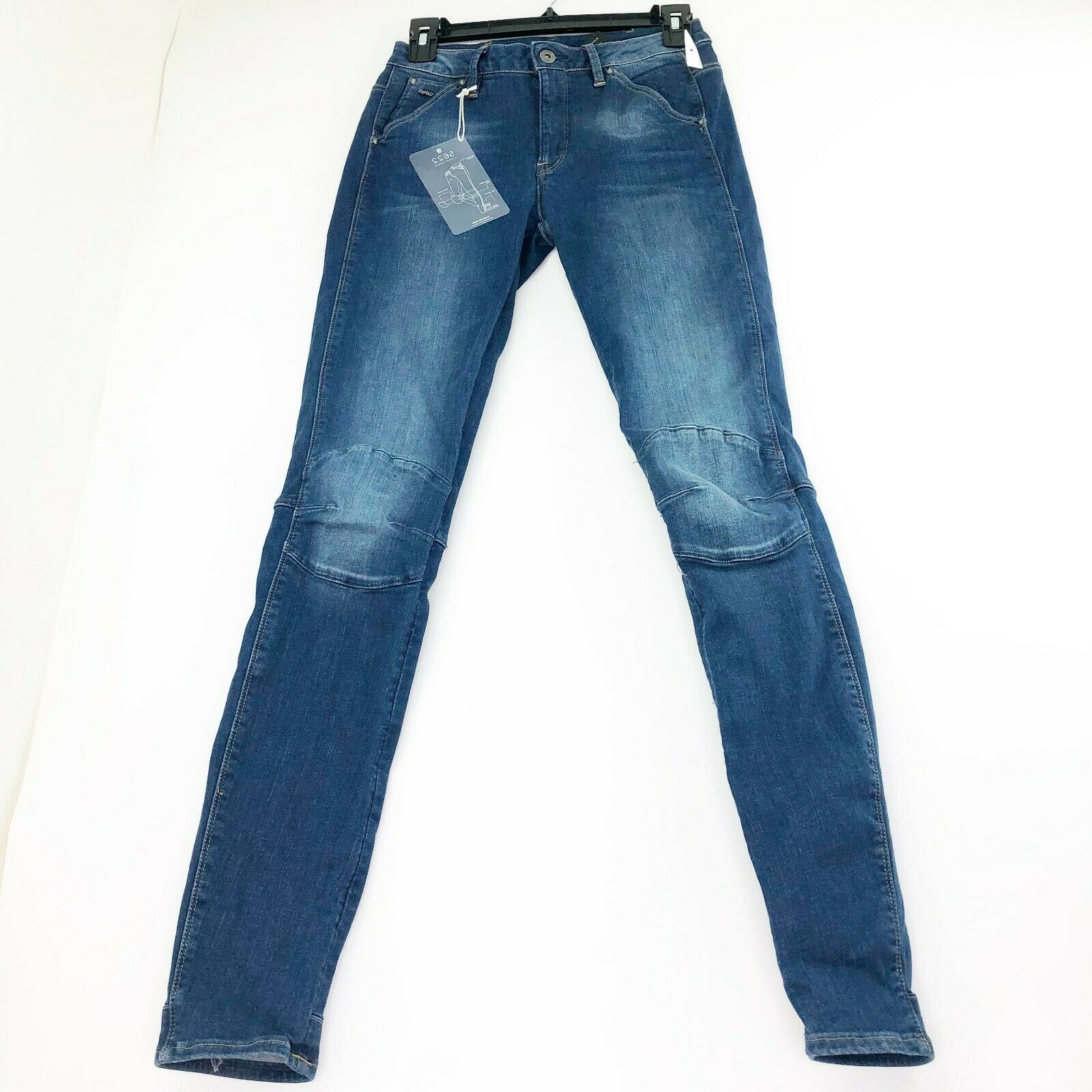 G stjärna Raw 5622 Mid -Waist Skinny Jeans Sz 25