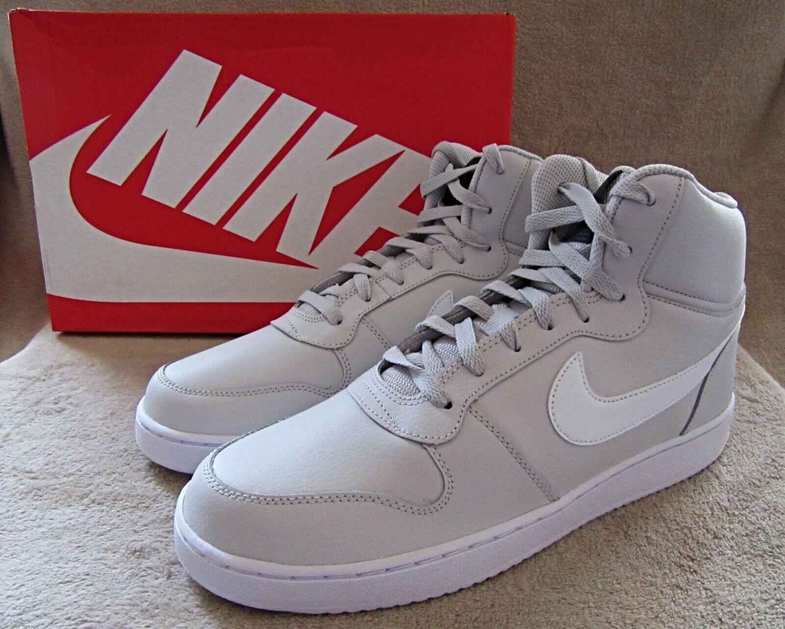 NIKE Ebernon AQ1773 003 Mid Grey White Basketball shoes US 11 M NWB