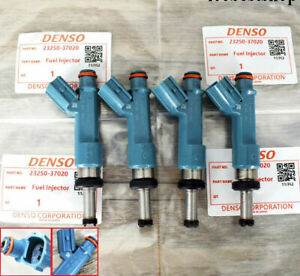 4Pcs/set OEM Denso Fuel Injectors for 10-15 Toyota Prius 1.8L Lexus #23250-37020