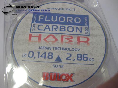 FIL70 MONOFILO BULOX FLUORO CARBON 100/% HARD 50mt 0,148mm 2,86kg