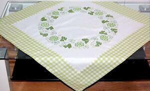 Tischdecke 85 x 85 cm Mitteldecke Tischdeko Sommer Garten Früchte bunt weiß