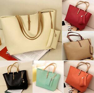 Fashion-A4-Woman-Lady-PU-Leather-Satchel-Shoulder-Tote-Shopper-Handbag-Bag-Purse