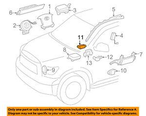 Details about TOYOTA OEM Airbag Air Bag-Penger Seat Occupancy Sensor on
