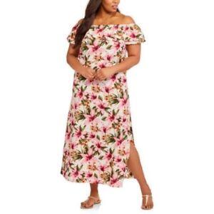 7801c4d0e3b7 Details about Tiffany   Co. Women s Plus Off Shoulder Ruffle Top Maxi Dress