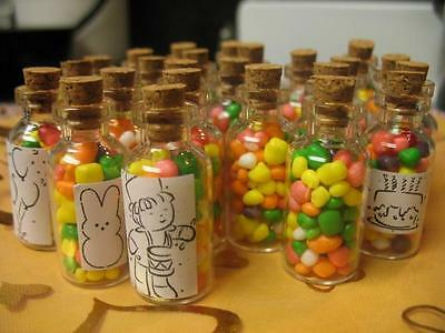 100 5ml vials. Empty Corked Glass Bottles. Wedding and Party Favor Bottles Jars.