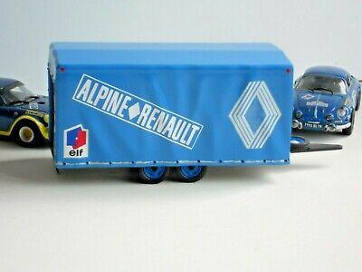 REMORQUE TRAILER TRANSPORT BACHE new ALPINE RENAULT 1//43