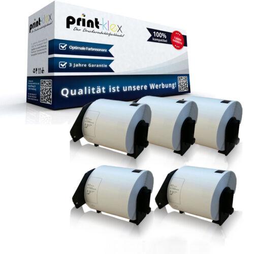 5x Austausch kompatible Etiketten Rollen für Brother P Touch-QL-500 A BS 62 x 10