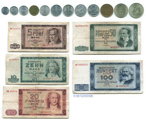 Das-DDR-Geld-der-60er-70er-Jahre-1-Pfennig-bis-100-Mark-Kompletter-Satz