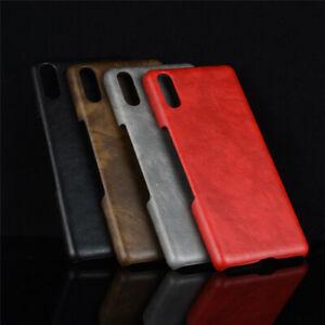 Retro-Litchi-Grain-Leather-Back-Case-For-Sony-Xperia-1-10-XA2-XZ3-L3-XZ2-Premium