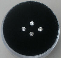 4 White Diamond Loose Rounds 2mm Each