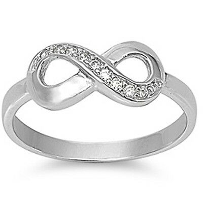 925 Sterling Silver Simulated Ruby Infinity Knot Ring Sizes 4-11