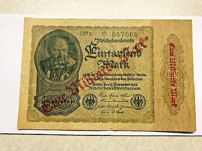 GERMANY BERLIN 1 MILLIARDE BILLION MARK ON 1000 MARK 1922 AU UNC P-113b