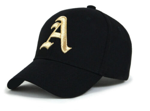 Baseball cap new cotton Mens  Women  hat letter A unisex Black hats casual hat A