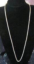 Molto bello Tono Argento Circolare collegato collana catena stile circa 75-83cm