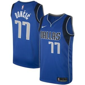 dad11ab3182 2018-2019 NBA Nike Dallas Mavericks Luka Doncic  77 Icon Edition ...